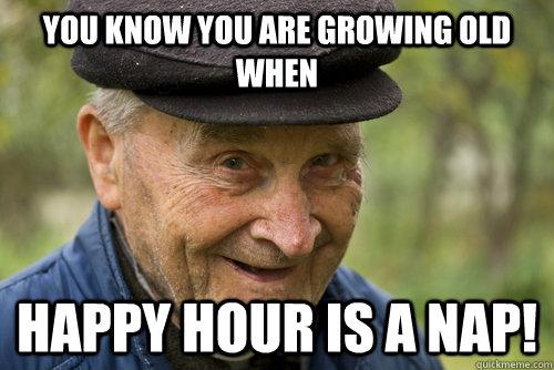 Getting older meme